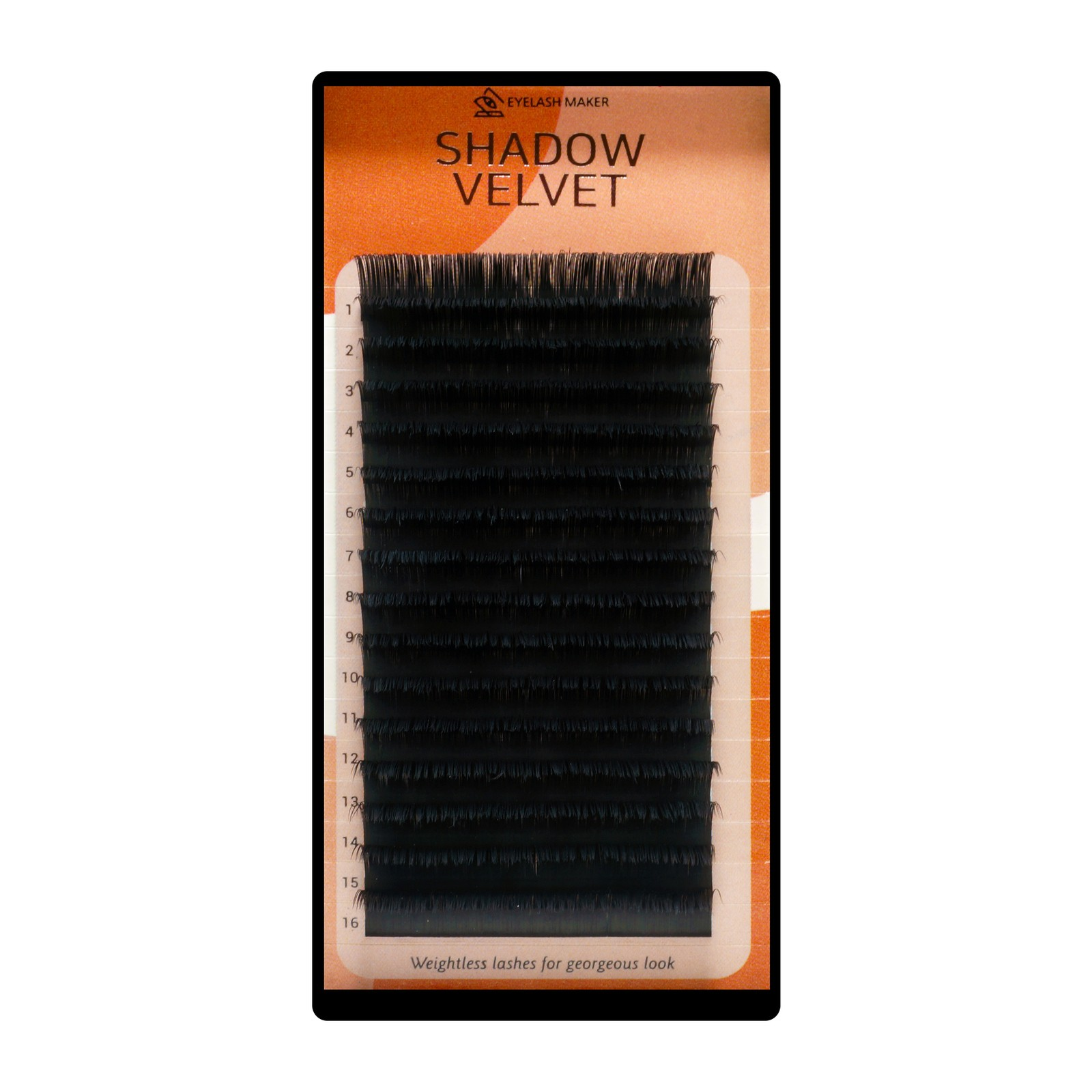 Shadow Velvet Lashes - 8mm, D, 0.13mm