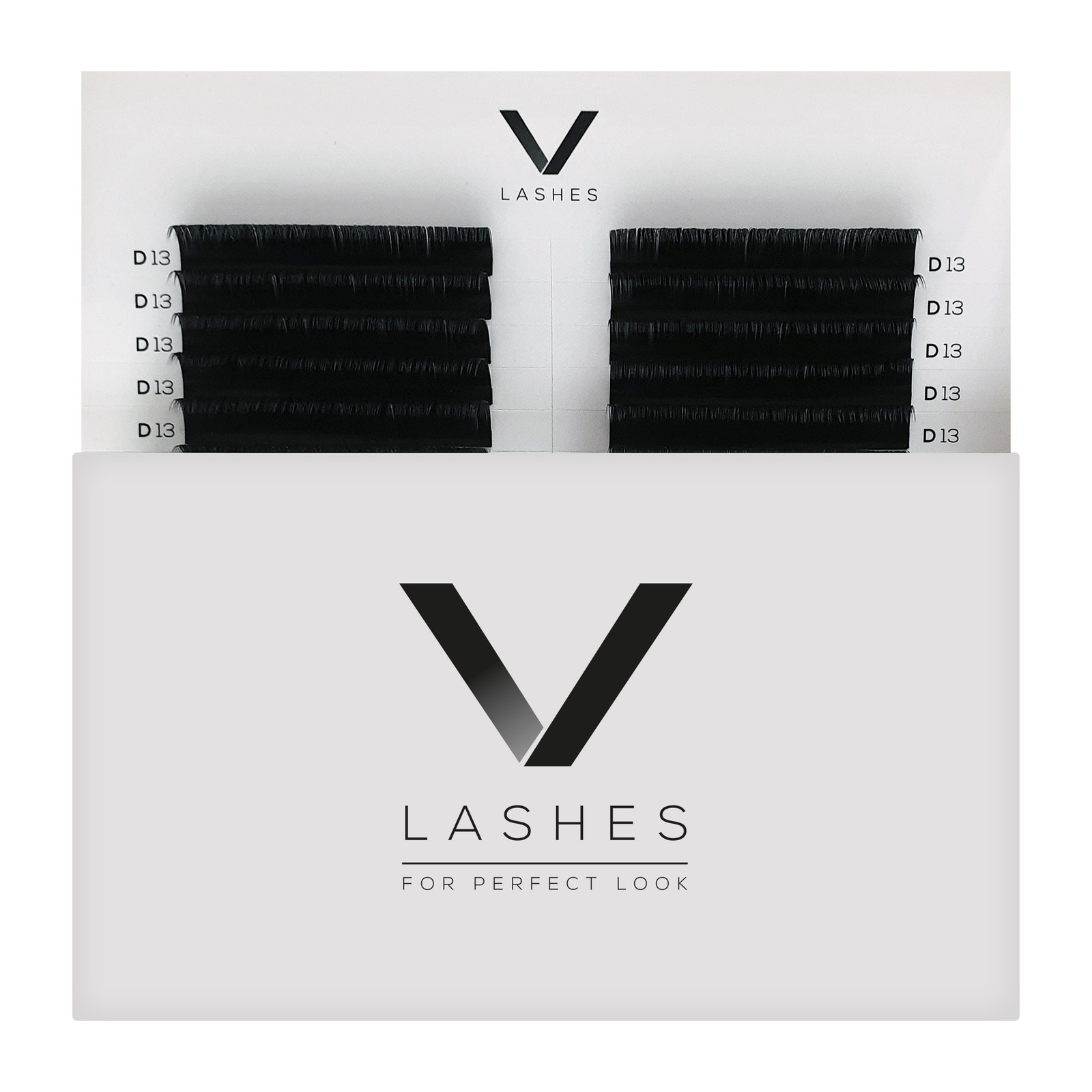 V Lashes - 8mm, D, 0.10mm