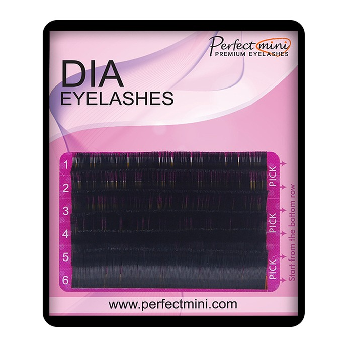 Diamond Silk Lashes - Mix 6 linii, D, 0.07mm