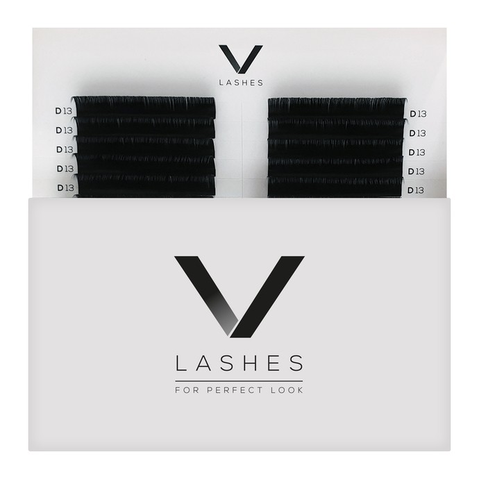 V Lashes - 9mm, D, 0.10mm