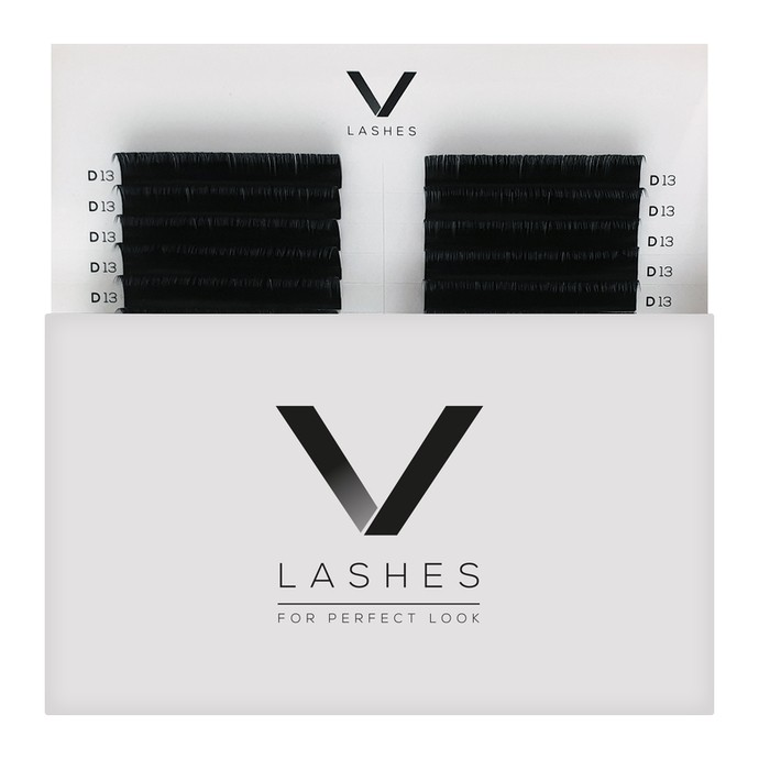 V Lashes - Mix 16 linii, C, 0.10mm